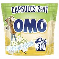 Omo 30 capsules jasmin & fleur de coton