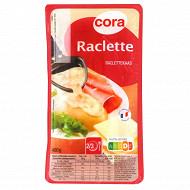 Cora fromage à raclette en tranches au lait pasteurisé 400g