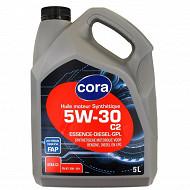 Cora huile moteur voiture FAP synthèse 5W30 A5/B5/C2 5L