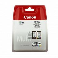 Canon Pack noir + couleur PG-545 / CL-546