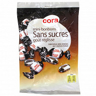 Cora mini bonbons sans sucres parfum réglisse 150g