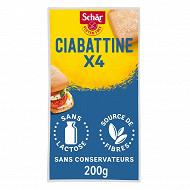 Schar Ciabatta petits pains précuits sans gluten 200g