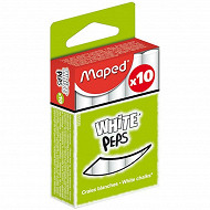 Maped - Craies blanches standard x 10 935110
