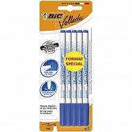 Bic feutre effacable à sec velleda fin bleu x 5 offre spécial
