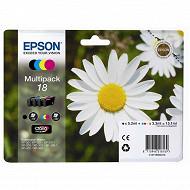 Epson Cartouche d'encre T1806 Pack Pâquerette BK/C/M/Y