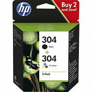 HP Encre 304 noire +3 couleurs