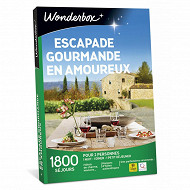 Coffret Wonderbox : Escapade gourmande en amoureux parmis 415 séjours pour 2 personnes