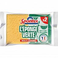 Spontex éponges végétales grattantes economic' x2