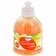 Cora crème lavante fleur d'oranger pompe 300ml