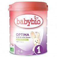 Babybio 1 optima de 0 a 6 mois 800g