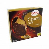 Cora 3 bâtonnets géants café 360ml - 241g