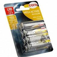 Cora 8 piles alcalines AA (LR06) mega-activées