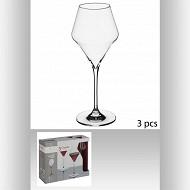 Lot de 3 verres à vin clarillo 27 cl