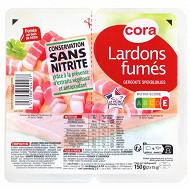 Cora lardons fumés supérieurs sans nitrite VPF 2x75g