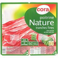 Cora poitrine nature 7 tranches fines 2x100g
