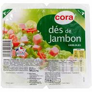 Cora dés de jambon 2x75g