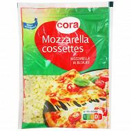 Cora cossettes mozzarella sachet refermable 200g