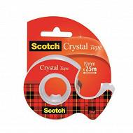 Scotch ruban adhésif super transparent 7.5 mètresx19 mm rouleau dévidoir rechargeable