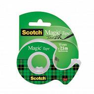 Scotch ruban adhésif magic invisible 7.5 mètresx19 mm
