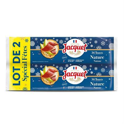 Jacquet Jacquet toasts ronds nature spécial fêtes lot 2x250g