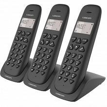 Logicom Téléphone sans fil ss répondeur VEGA 350 TRIO NOIR
