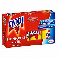 Catch papier tue-mouches x4