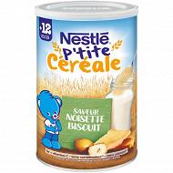 Nestlé ptite céréale noisette biscuité 400g dès 12 mois