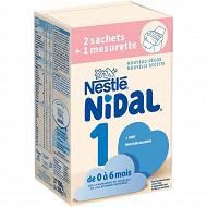 Nidal 1 dès la naissance bag in box 2x350G de 0 à 6 mois