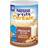 Nestlé p'tite céréale biscuitée pépites de chocolat 400g dès 12 mois