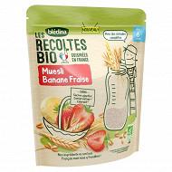 Bledina les recoltes bio muesli banane fraise 200g des 6 mois