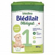 Blédilait premium formule épaissie 1er âge de 0 à 6 mois 820g