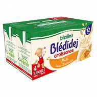 Blédina blédidej brique de lait et céréales biscuité saveur miel 4x250ml dès 12 mois