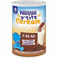 Nesté p'tite céréale saveur cacao 400g dès 8 mois