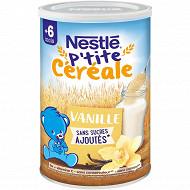 Nestlé p'tite céréale saveur vanille 400g dès 6 mois