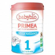 Babybio Primea lait nourrisson 1er âge dès la naissance 900g