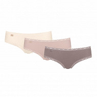 Lot de 3 hispters Sloggi M002 BLANC/NUDE/TAUPE T40