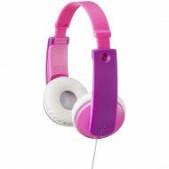 Jvc Casque enfant rose violet HA-KD7-P-E