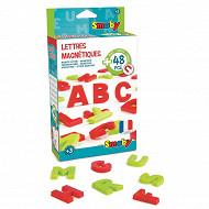 48 lettres magnétiques majuscules