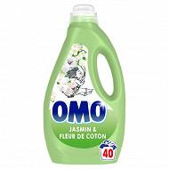 Omo lessive liquide jasmin & fleur de coton 2l 40 lavages