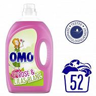 Omo lessive liquide fleurs des tropiques et magnolia 2,6l
