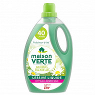 Maison Verte lessive fraicheur d'été 2.4l 40 lavages