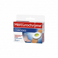 Mercurochrome pansements corricidés x12