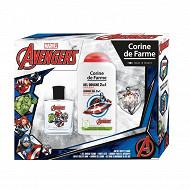 Coffret avengers 50ml + gel douche 250ml + porte clé