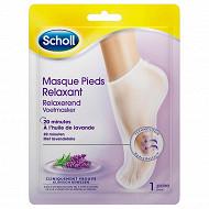 Scholl masque pieds lavande