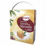 Cora lessive poudre savon de Marseille 3.78kg 54 lavages