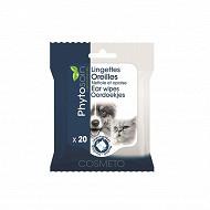 Riga lingettes hygiène oreilles chiens & chats