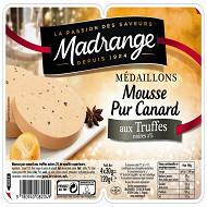 Madrange médaillons de mousse pur canard aux truffes x4 120g
