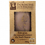 Patrimoine Gourmand foie gras de canard entier du Sud-Ouest lobe de 300g