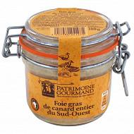 Patrimoine gourmand foie gras de canard entier du sud-ouest bocal 180g