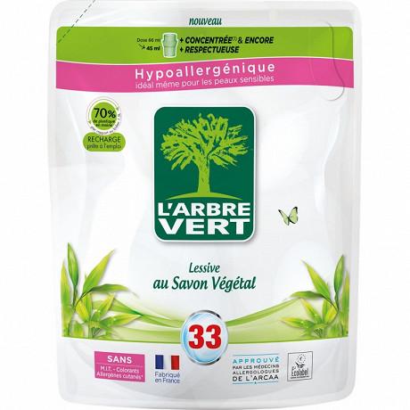 L'arbre vert - recharge lessive 1.5l savon végétale - 33 lavages